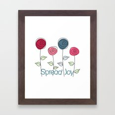 Spread Joy Framed Art Print