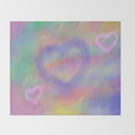 Fuzzy Love Throw Blanket