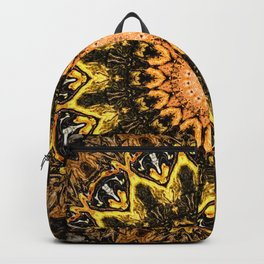 Gold Star Bohemian Mandala Design Backpack