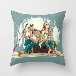Shou & Iah Throw Pillow