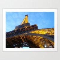 Tour Eiffel par le Bass Art Print