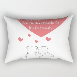 Polar Bears Couple - Sometimes, you dont need to say anything - Just be here beside me - Thats enoug Rectangular Pillow
