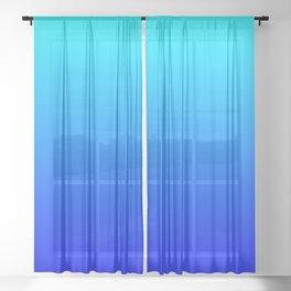Aqua Blue Bright Ombre Sheer Curtain