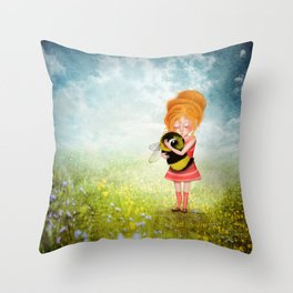 Bee Whisperer - Save the Bees Throw Pillow