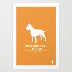 Miniature Bull Terrier Art Print