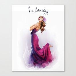 dancing ballerina1 Canvas Print