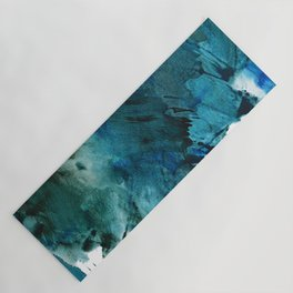 Scenic Route [2]: a pretty, minimal abstract piece in blue and green by Alyssa Hamilton Art Yoga Mat