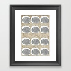 Stone Rows Framed Art Print
