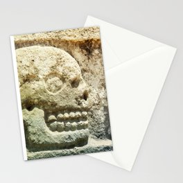 Mayan Stone Skulls Stationery Cards