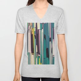 Abstract Composition 640 Unisex V-Neck