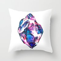 mineral Throw Pillows featuring Mineral by arnedayan