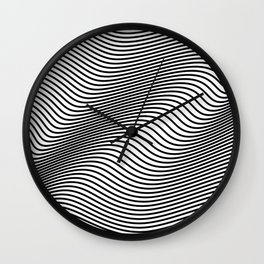 Bold Minimal Lines Wall Clock