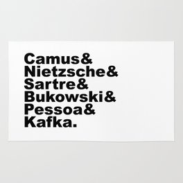 Camus& Nietzsche& Sartre& Bukowski& Pessoa& Kafka. Rug
