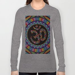 Flowery Om Mandala Long Sleeve T-shirt