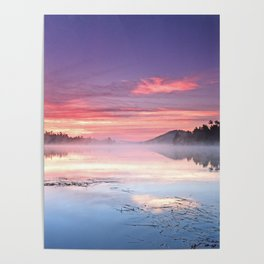Colorful Summer Sunrise Lake in the Boundary Waters Poster