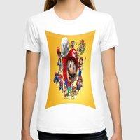 super mario T-shirts featuring super mario  , super mario  games, super mario  blanket, super mario  duvet cover, super mario  show by ira gora