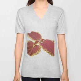 Red Croton Unisex V-Neck