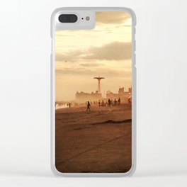 Coney Island Dreams Clear iPhone Case
