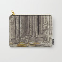 NYC Yellow Cabs Radio City Hall - SKETCH Carry-All Pouch