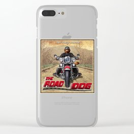 The Road Dog (vintage) Clear iPhone Case
