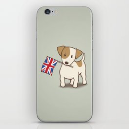 Jack Russell Terrier and Union Jack Illustration iPhone Skin