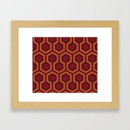 Overlook Hotel Carpet The Shining Framed Art Print