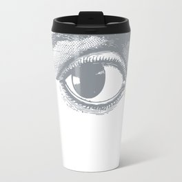 I see you. Gray on White Travel Mug