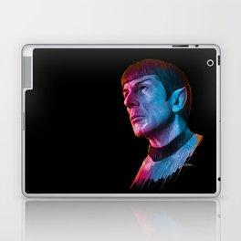 "Homage to Leonard Nimoy - Mr. Spock ""Star Trek"" (colored version) Laptop & iPad Skin"