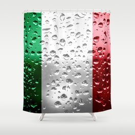 Flag of Italy - Raindrops Shower Curtain