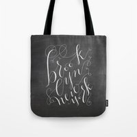 brooklyn Tote Bags featuring Brooklyn by Molly Suber Thorpe
