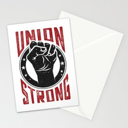 Union Strong Pro Labor Union Worker Protest Light Stationery Cards