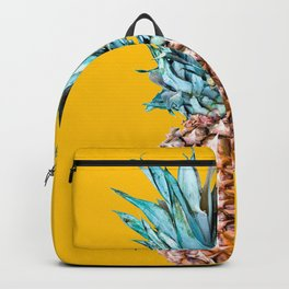 Pineapple Ananas On A Yellow Mellow Background #decor #society6 #buyart Backpack