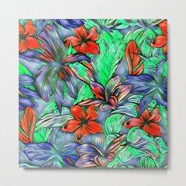 Floral Dreams 619-1A vivid Metal Print