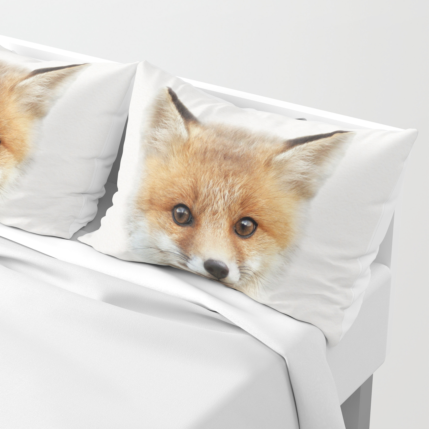 Baby Fox Baby Animals Art Print By Synplus Pillow Sham By Synplus Society6