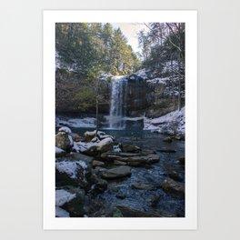 Cloudland Canyon Waterfall Art Print