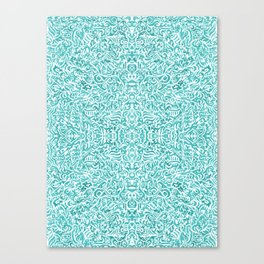 Colouring for Mindlessness Kaleidoscopic in blue Canvas Print