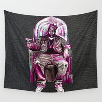 tupac Wall Tapestries featuring Notorious Big *King* by Gold Blood