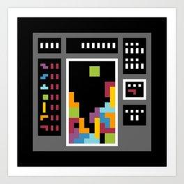 Minimal NES: Tetris Art Print