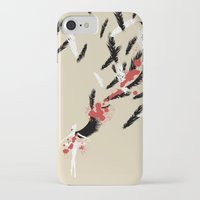 black swan iPhone & iPod Cases featuring Black Swan by Anthony Wallace