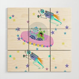 Outerspace Traffic Jam Wood Wall Art