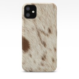 Pattern of a Longhorn bull cowhide. iPhone Case