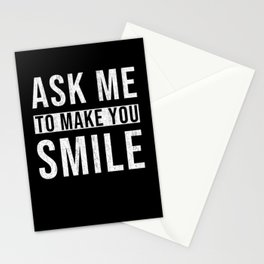 Funny Sayings Smile Stationery Cards