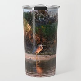Heron at Sunrise  Travel Mug
