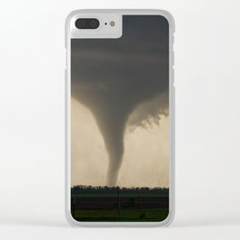 Tornado On the Ground at Salina Kansas Clear iPhone Case
