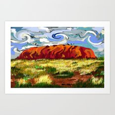 Urulu Art Print