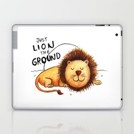 Just Lion the ground Laptop & iPad Skin