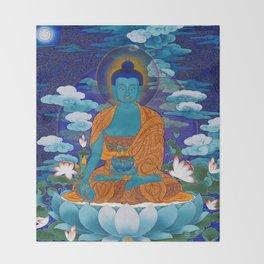Medicine Buddha Throw Blanket