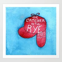 catcher in the rye Art Prints featuring The Catcher in the Rye by platypusradio