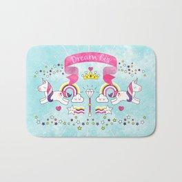 Dream Big Unicorn Carousel Bath Mat