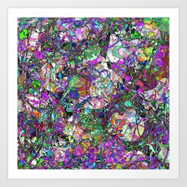 Colorful Lines Abstract Art Print